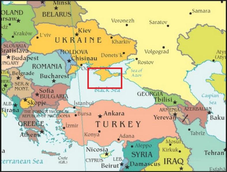 Mapa de Crimea Mar Negro